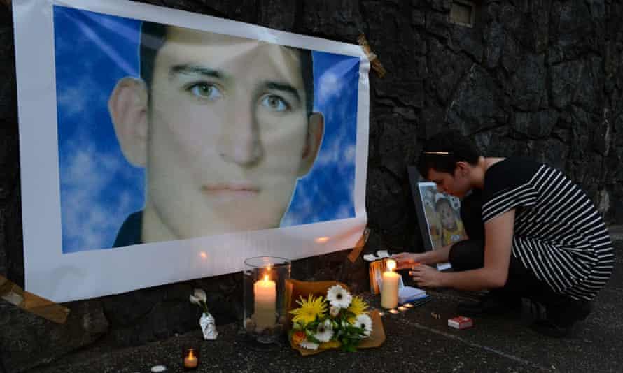 A memorial for Reza Barati in Brisbane