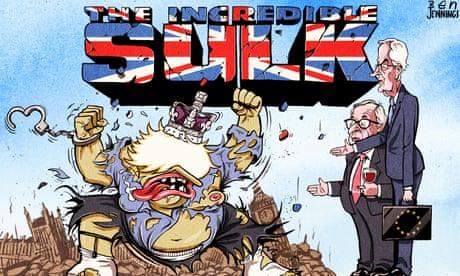 Ben Jennings on Brexit and Boris Johnson's claim of 'huge progress' – cartoon