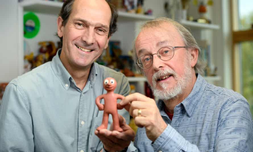 Peter Lord and David Sproxton, founders of Aardman Animation with Morph