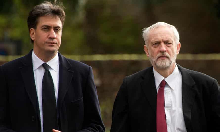 Miliband with former Labor leader Jeremy Corbyn.