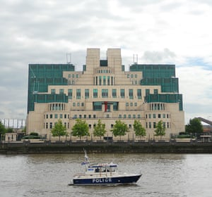 The 'fortress-like' headquarters on the Thames for MI6, which opened in 1994.