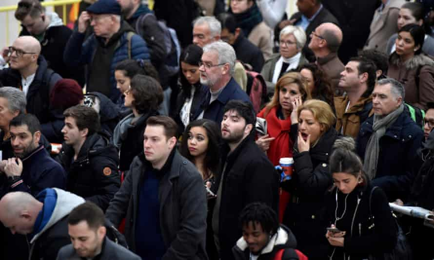 Passengers at Victoria station, London.