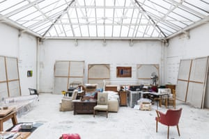 No hiding place: Hodgkin's London studio in an old diary building.