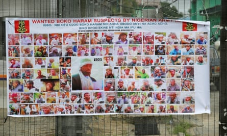 A poster displaying wanted Boko Haram suspects.
