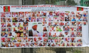 Poster displaying wanted Boko Haram suspects is seen on a street in Yenagoa in Nigeria's delta region.