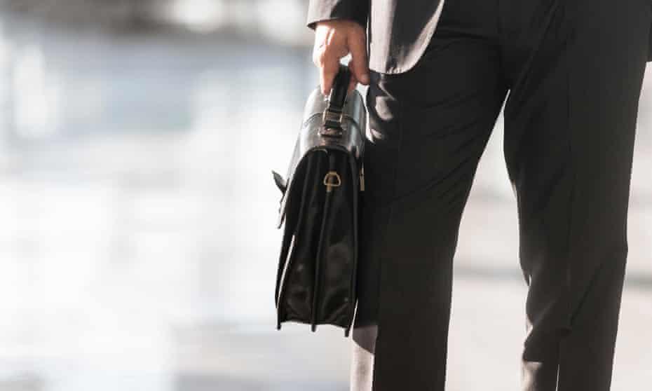 Man holding briefcase