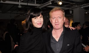 Andy Gill with his widow Catherine Mayer in 2015.