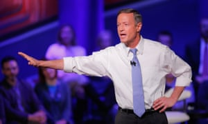 Martin O'Malley at a CNN Democratic town hall in Des Moines, Iowa, in January 2016.