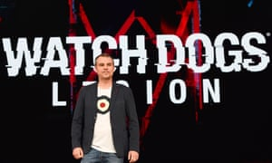 Ubisoft's Clint Hocking introduces Watch Dogs Legion, June 10, 2019 at the Ubisoft E3 press conference in Los Angeles.