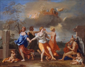 The painting A Dance to the Music of Time, circa 1634-36, by Nicolas Poussin.