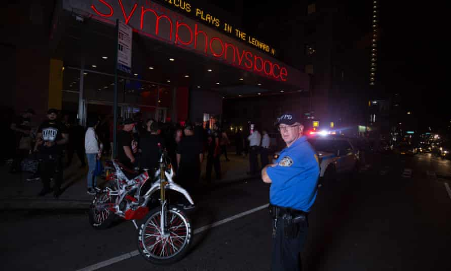 New York City police keep watch over the event