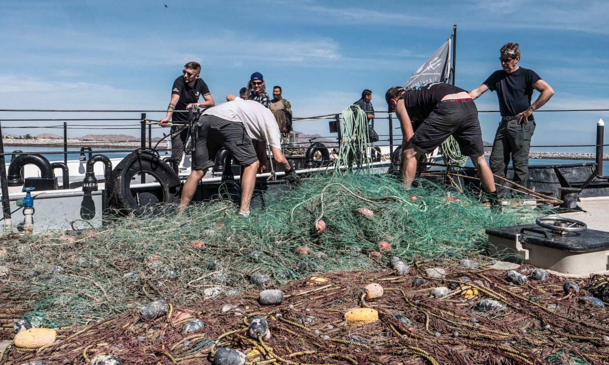 Dumped fishing gear is biggest plastic polluter in ocean, finds report |  Pollution | The Guardian