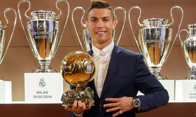 Cristiano Ronaldo wins Ballon d Or for the fourth time  a80b0f81d9b86