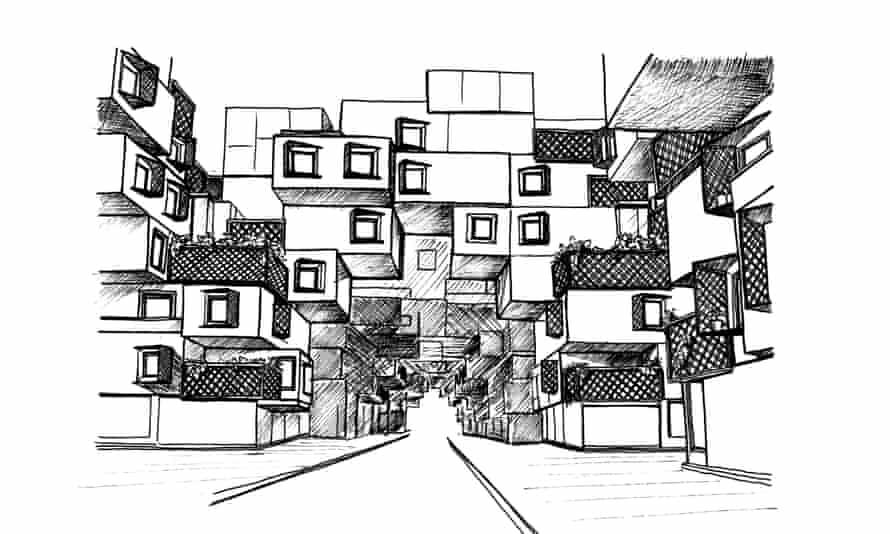 Marwa al-Sabouni's vision of 'tree units' for the redevelopment of the razed district of Baba Amr.