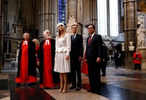 Ivanka Trump and Jared Kushner tour Westminster Abbey