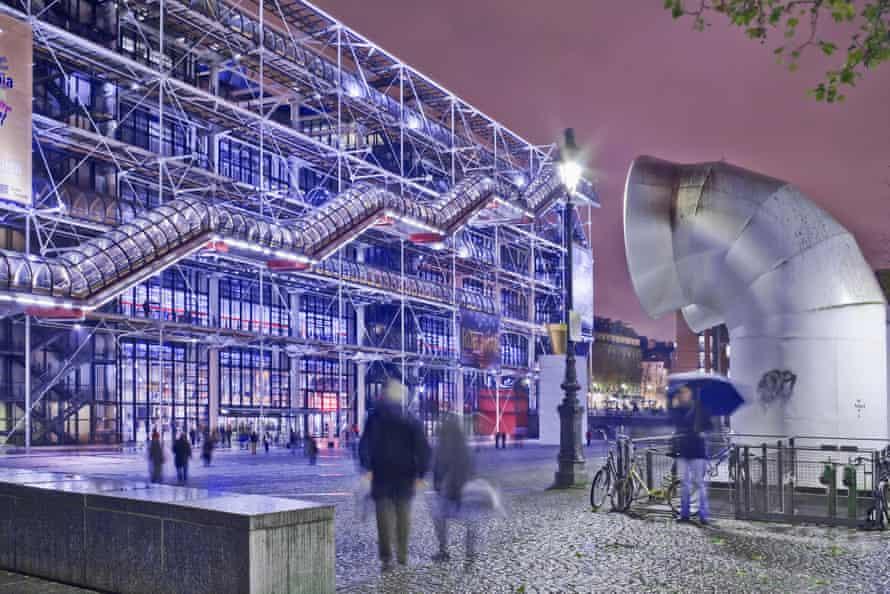 the Pompidou Centre at Twilight.