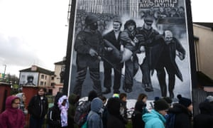A mural depicting Bloody Sunday