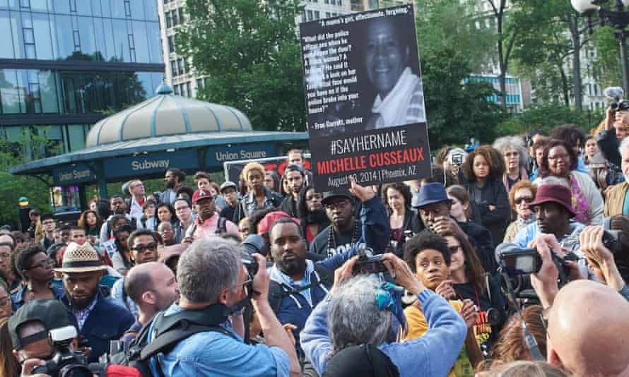 #SayHerName vigil in remembrance of black women and girls killed by the police, Union Square, New York.