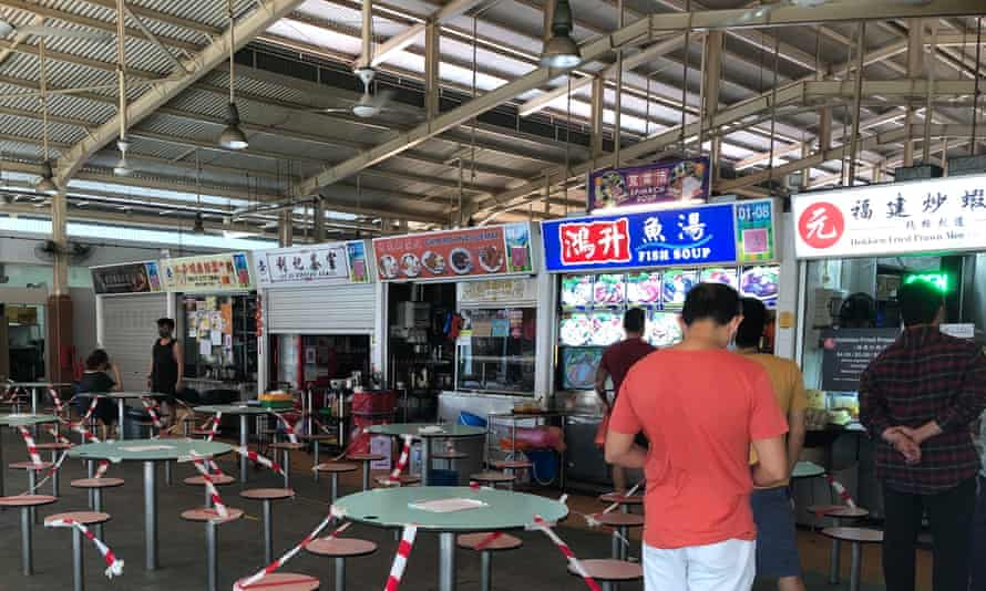 Ghim Moh Market during the Covid circuit breaker.
