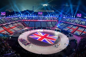 Team GB make their entrance into the Olympic stadium