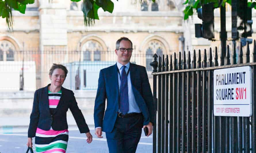 Lord Bethell and Dido Harding after appearing before the science and technology committee, 17 September 2020.