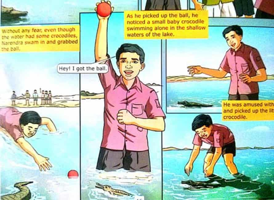 Amazing adventures … the Narendra Modi comic book.