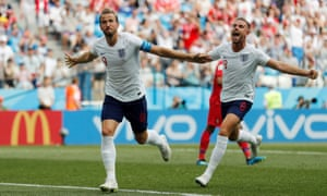 Harry Kane (left) has 13 goals in his last nine England games but his stunning run feels like a team achievement, an extension of the collective will.