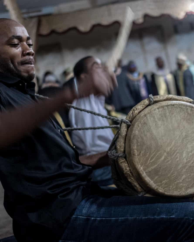 Drummers during the Hambarousi dance