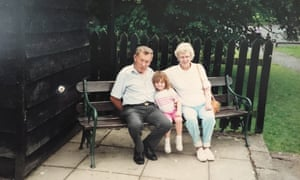 Hannah Louise Summers with her grandparents.