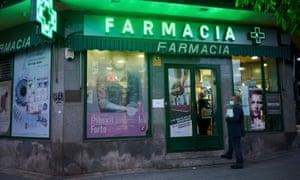 A pharmacy in Mostoles, Spain.