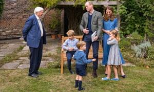 Sir David Attenborough with royals