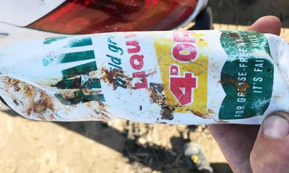 A 47 year old washing liquid bottle was found on Brean Beach in Somerset.