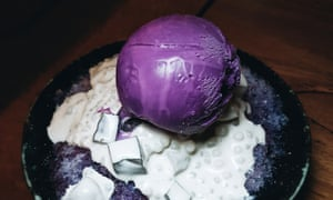 Purple patch … ube ice-cream.