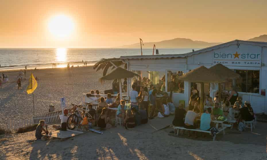 A beach bar in Tarifa, southern Spain.