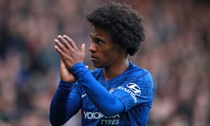Willian scored 63 goals in 339 appearances for Chelsea and was well thought of by Frank Lampard, who used to play alongside him.