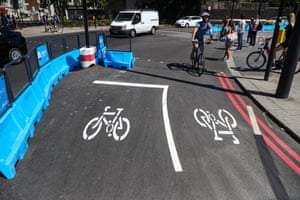 Cycle route infrastructure in London