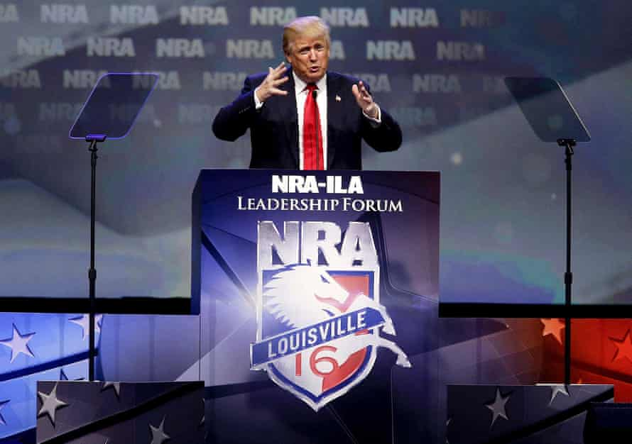 Donald Trump speaks at the NRA