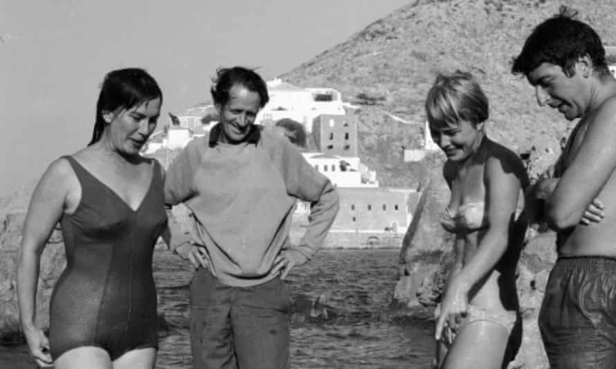Charmian Clift and George Johnston, left, with Marianne Jensen and Leonard Cohen in Hydra, Greece, in 1960.