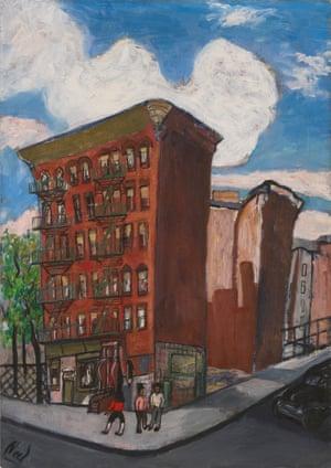 Building in Harlem, 1945, by Alice Neel