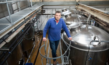 'We won't brew again before Christmas': Colin Wilde, MD of Castle Rock brewery in Nottingham.