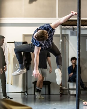 'Trepidation and excitement' … rehearsals.