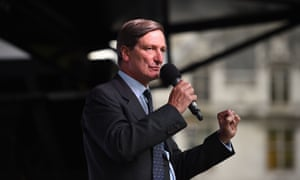 Dominic Grieve speaks at a People's Vote rally