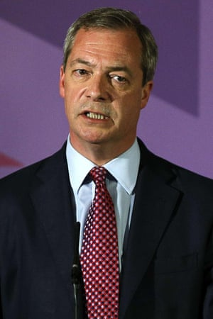 Nigel Farage speaking at the launch of his party's manifesto in Thurrock.