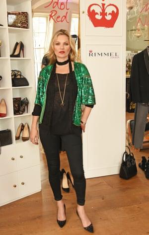 Kate Moss showcases her Rimmel range in London 2016