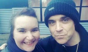 Janie Burden with Robbie Williams.