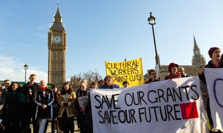 Students and supporters stage a protest in Parliament Square in January against the abolition of maintenance grants.