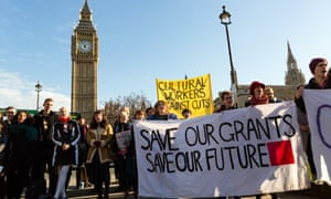 Students protest in Parliament Square, Westminster, against the abolition of student maintenance grants.