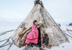 Lena is nine months pregnant. Her grandmother, Praskovya, gave birth to five children in her chum, assisted by neighbours who were experienced with births and served as midwives. But since the 1960s, Nenets women have been giving birth in a city hospital, where they are flown by air