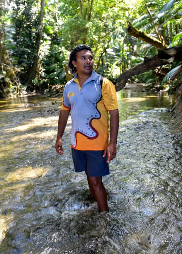 Kuku Yalanji man, Juan Walker, owner of a small tourism operation Walkabout Cultural Adventures which offers bespoke Aboriginal cultural tours around Port Douglas and the Daintree. Queensland Far North's tourism.