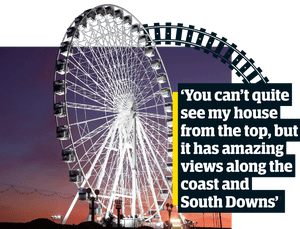'You can't quite see my house from the top, but it has amazing views along the coast and  South Downs''